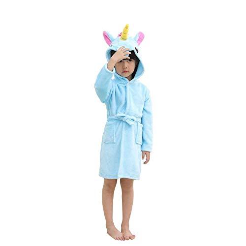 Unicornio Albornoz Niños Pjs Niñas Bata Niños Pijamas