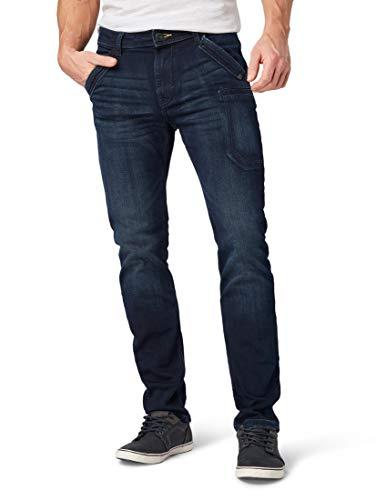 TOM TAILOR für Männer Jeanshosen Trad Relaxed Jeans Overdyed Blue Denim, 33/32 Blue Denim Bekleidung