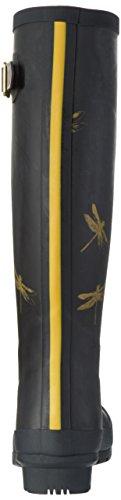 Tom Joule W_Wellyprint, Stivali Alti di Gomma Donna Nero (Black Dragonfly)