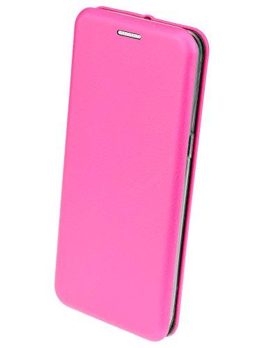 iPhone X - Premium Book Style Tasche Klapp Hülle Wallet Case Cover mit Kartenfach und Standfunktion in pink pink