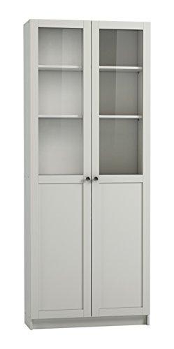Steens Anette Glastüren Set, 79 x 192 x 1 cm (B/H/T), MDF, Weiß
