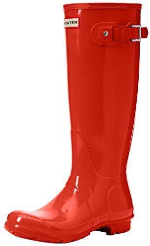 Hunter Damen High Wellington Boots Gummistiefel Orange (Orange Ror)