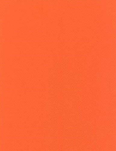 Toile cirée nappe au mètre Uni Orange Uni 021Taille au choix dans Carré Rond Ovale, PVC, orange, 100 cm rund