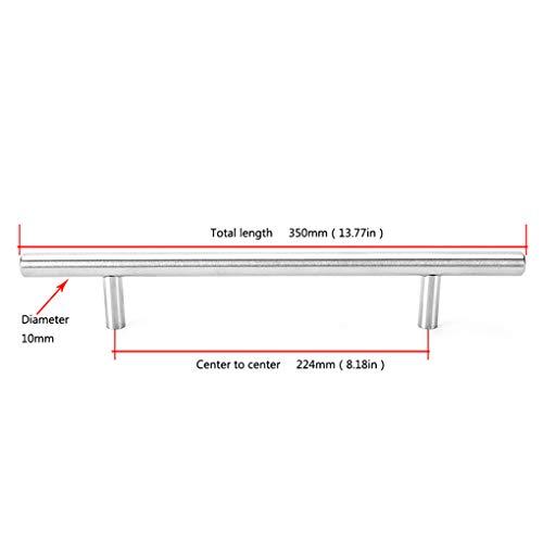 Gankmachine Durchmesser 10 mm Edelstahl-Küche-Tür-Kabinett-T Schalengriff Knob Griff Griff Ziehen -