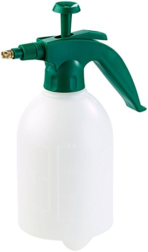 PEARL Pumpsprühflasche: Universal-Pump-Drucksprüher mit Messingdüse, lösungsmittelfest, 1,5 l (Automatische Sprühflasche)