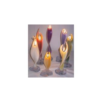 Alaya Engelkerze 40cm mit ca. 10 Stunden Brenndauer - 7 farbsortierte Kerzen im Set   Alaya Engelwelt