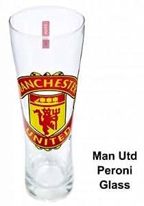 Manchester United Verre à bière Peroni avec blason du club