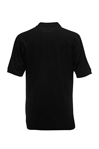 Fruit of the Loom Herren Poloshirt Heavyweight 65: 35 Polo Black
