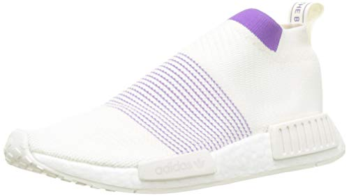 adidas Damen NMD_cs1 Pk W Gymnastikschuhe, Weiß (Cloud White/Crystal White/Active Purple), 38 EU