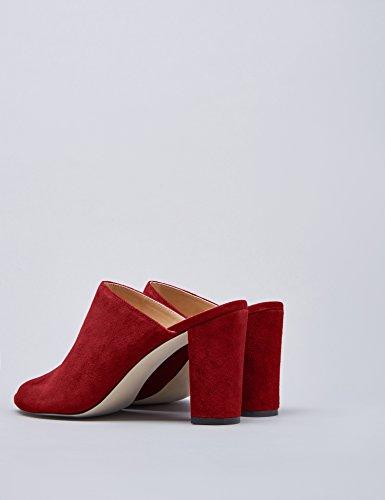 Muli Donne Delle Tacchi Trovare rosso Rosso Quadrato Scuro Alti 1ZRPwHxn
