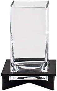 Windlicht Adele aus Metall mit Glaszylinder quadratisch Tischdeko | Accessoire für innen und draußen | Kerzenh