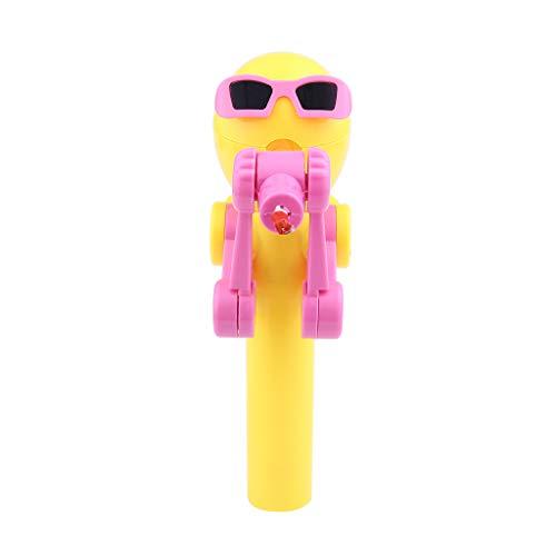 Dapei Mini Kreative Lutscher Lagermaschine Artefakt Lustige Essen Lollipop Roboter Halter Stehen Bildung Spielzeug Geschenke Lernspielzeug (Gelb)