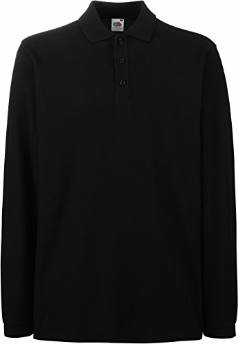 Fruit of the Loom: Premium Long Sleeve Polo 63-310-0, Größe:L;Farbe:Black