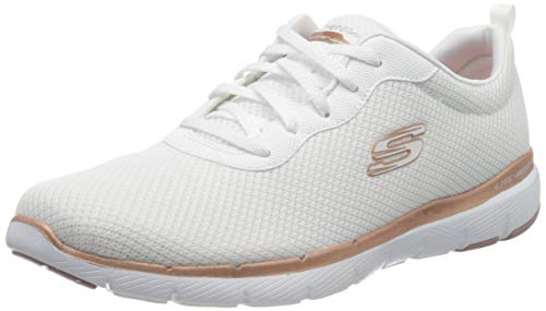 Skechers Women's Flex Appeal 3.0-first Insight Trainers, White (Slate Mesh/Pink Trim Wtrg), 4 UK (37 EU)