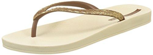 Ipanema Damen Mesh Ii Sandalen Gold (Beige/Gold)