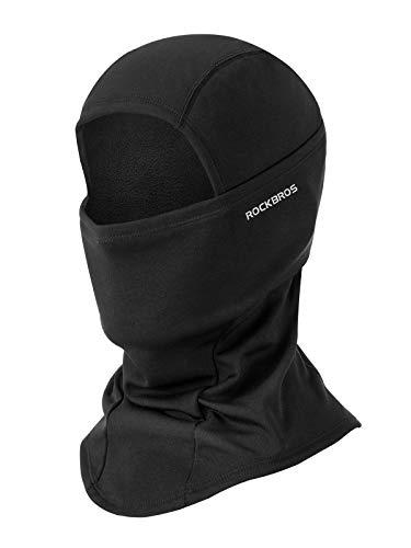 ROCKBROS Cagoule Polaire Balaclava Masque Tour de Cou Coupe-Vent Thermique Motif/Filtre pour Moto Vélo Ski Hiver Homme Femme No