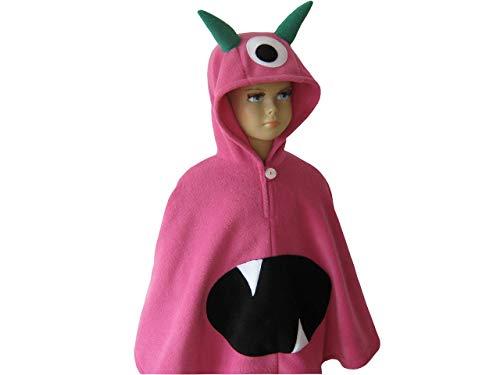 Pink Mädchen Monster Kostüm - fasching karneval halloween kostüm cape für kleinkinder monster pink