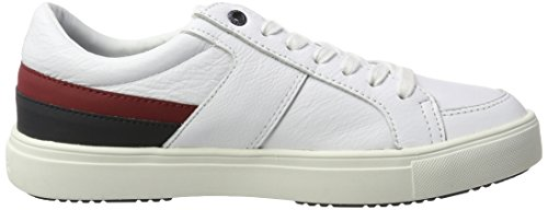 Tommy Hilfiger M2285oon 1c1, Sneakers Basses Homme Blanc (White)