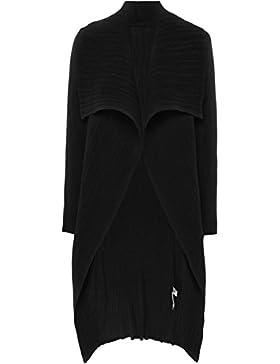 Thanny Da Donna pieghe giacca giacca a cascata Nero