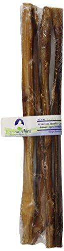 Barkworthies Standard Bully Stick für Haustiere, 30,5 cm, 4 Stück