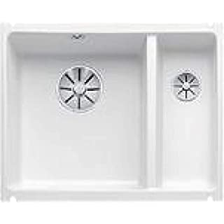 Blanco Subline 350/150-U Undermount Sink Ceramic/Crystal White Gloss/Main Basin Left