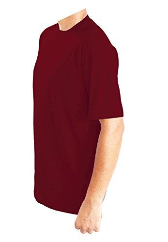 Generic -  T-shirt - Tunica - Basic - Collo a U  - Uomo Red