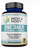 Bright & Mighty One Daily Postnatal Multivitamins for Women - with 800 Mcg