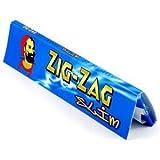 Papier à rouler zig zag bleu 160Zig Zag King Size Slim 5carnets de 32
