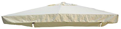 giardini del re maxima telo di ricambio ombrellone, ecru, 290x390x2 cm