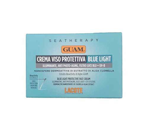 GUAM SEATHERAPY - Crema Viso Protettiva BLUE LIGHT 50ml - Illuminante, Anti photo-acing, Filtro luce blu + UV-B