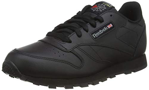 Reebok Classic Leather, Chaussures de Football Garçon, Noir (Black 001), 38 EU