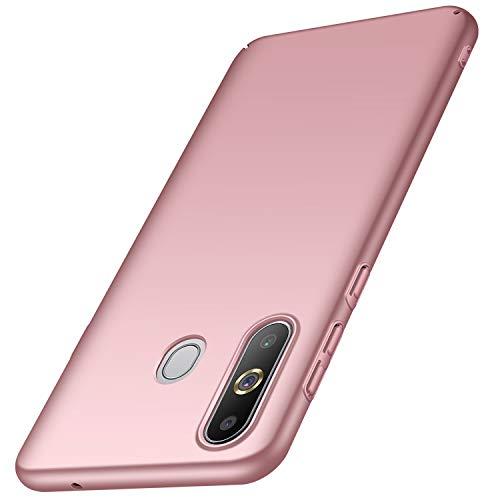 Avalri für Samsung Galaxy A8S Hülle, Ultradünne Handyhülle Hardcase aus PC Stoß- und Kratzfest Kompatibel mit Samsung Galaxy A8S (Glattes Rosen-Gold)
