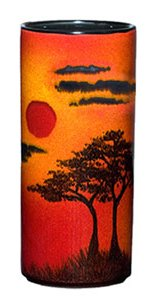 Poole Pottery African Sky Pillar Vase Small 17cm