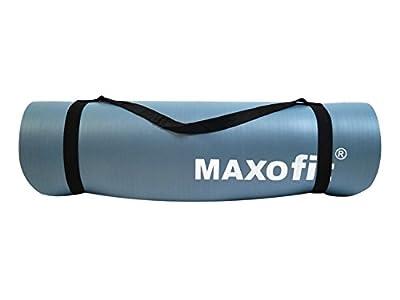 MAXOfit® Yogamatte mit Trageriemen 180x60cm hellblau, auch als Unterlage für Fitnessgeräte geeignet