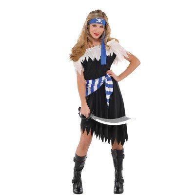 Schiffbrüchige Piraten Schönheit Kostüm Kinder - Kostüm Schiffbrüchiger Halloween