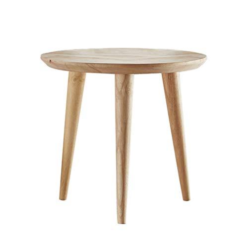 Tables basses en Bois Massif Simple Moderne Petit Balcon Porche Table Support de Fleurs (Color : Beige, Size : 60 * 60 * 62cm)