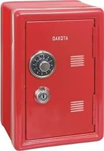 dakota coffre fort mini tirelire avec clef et combinaison rouge 12x10x18 cm. Black Bedroom Furniture Sets. Home Design Ideas