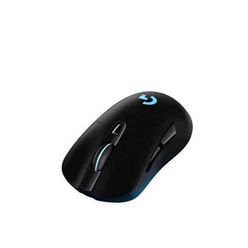 Logitech G403 kabellose/kabelgebundene optische Gaming-Maus (mit 12.000 DPI und kabelloser, 2,4-GHz-Verbindung für PC, Mac, USB) schwarz - 6