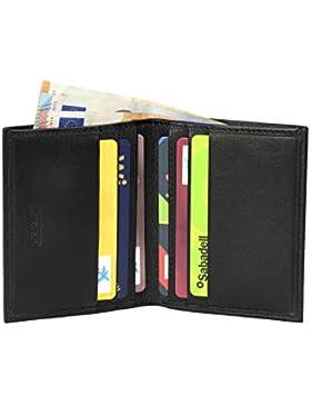Heming / Cartera de piel minimalista para tarjetas y billetes. Billetera pequeña. Cartera tarjetero para organizar...