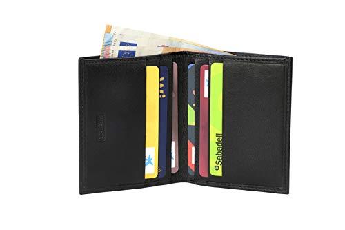 Heming / Cartera de piel minimalista para tarjetas y billetes. Billetera pequeña. Cartera tarjetero para organizar bien tus tarjetas. Cuero genuino. Para hombre y mujer.