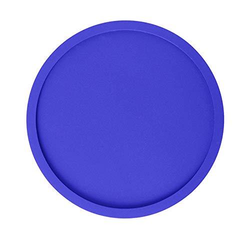 Round PVC Weicher Kleber Drink Coasters Rutschfeste Isolierte Cup Mats Set of 10(5 ColorsThicken) Blau Green Oval Dutch Oven