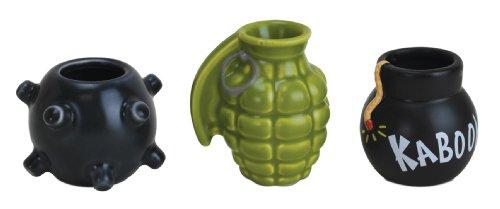 Unbekannt Big Mouth Toys Bombige Schnapsgläser, Keramik, 3er-Set, grün
