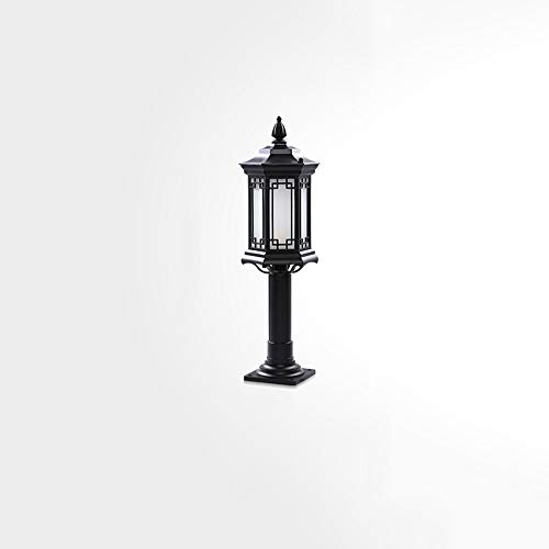 Europäische Retro Säulenlaterne Luxus Kolonial Außen Spalte Lampe Für Haustür Treppenhof Auffahrt Pfad Außenpfosten Licht Traditionelle E27 Wasserdicht IP55