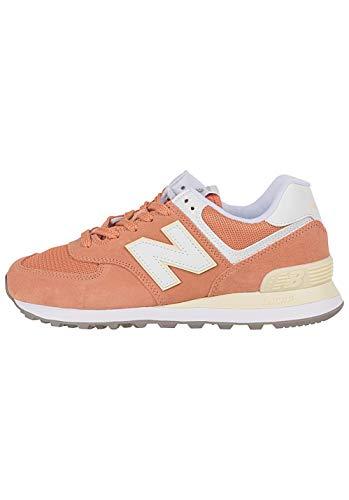 New Balance WL574-B Sneaker Damen orange/weiß, 8 US - 39 EU - 6 UK (New Damen Balance)