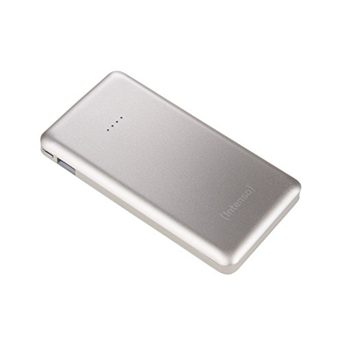 Intenso 7332531 Powerbank S10000 Slim externes Ladegerät (10000mAh, geeignet für Smartphone/Tablet PC/MP3 Player/Digitalkamera) silber