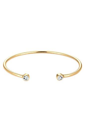 Elli Damen -   vergoldet Rundschliff   weiß Swarovski-Kristall - 17cm Länge