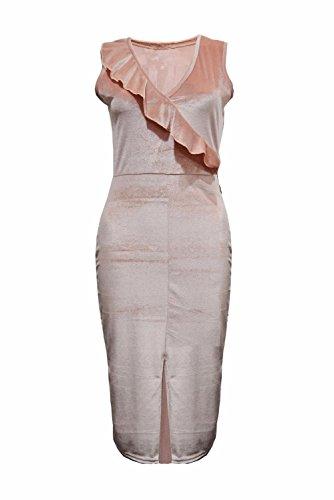 Janisramone - Robe - Sans Manche - Femme * taille unique Pêche