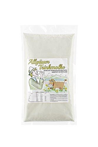 Allgäuer Süssmolke Pulver - Trinkmolke Molkepulver - Süßmolkepulver ohne Zusätze - Deutsches Naturprodukt aus bester heimischer Milch - Nachfüllpackung (2kg)
