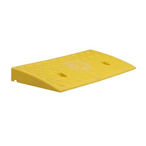 DJSMxpd Rampe di parcheggio Garage Rampe di Gomma in Salita Antisdrucciolevole Colore Porta Ingresso Pista per Moto parcheggio Auto Pendio Pad Protettivo Pneumatico 50 * 22 *   5 cm (Color : Yellow)
