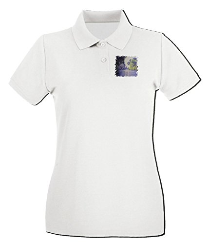 T-Shirtshock - Polo pour femme TDA0035 monet211 la senna presso giverny Blanc
